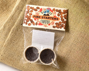 Coffee Favor Party Gift Coffee Fire Starter 2 Piece Party Camping Grilling Outdoors Camp Barbeque Party BBQ Fire Party Fire Pit Coffee Gift