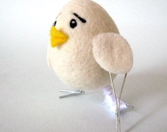Get Well Soon - Needle Felted Bird - Wool Felt Chick-easter