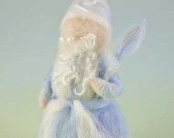 King Winter Wool Doll Needle Felted Waldorf Style Puppet