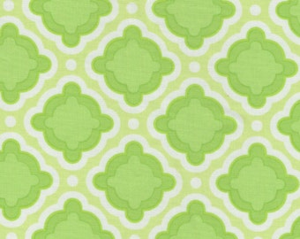 Fresh Lime Green Print 100% Cotton Quilting Fabric