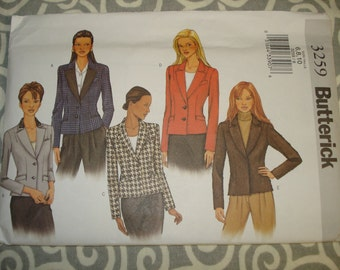 Butterick 3259 jacket pattern