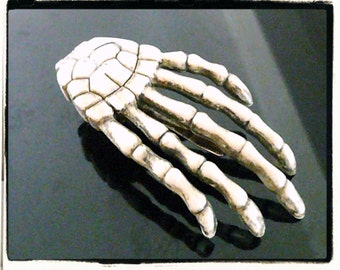 The Infamous Skeleton Hand Hair Clip or Brooch Pin