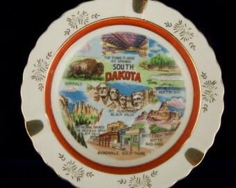 SALE WAS 9 Vintage South Dakota Souvenir Ashtray