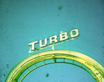 Carnival photography, Roller Coaster Art, Word Art, Letters, Lemon Yellow, Turquoise, Kids Room, Nursery Decor - Turbo