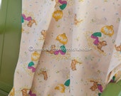 Mod Big Hair Girls - Vintage Fabric  Juvenile New Old Stock 70s Stripes Kittens Daisies Butterflies (Reserved)