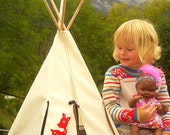 My Forest Friend -Native American Doll Teepee/Tipi/playhouse - Made to order