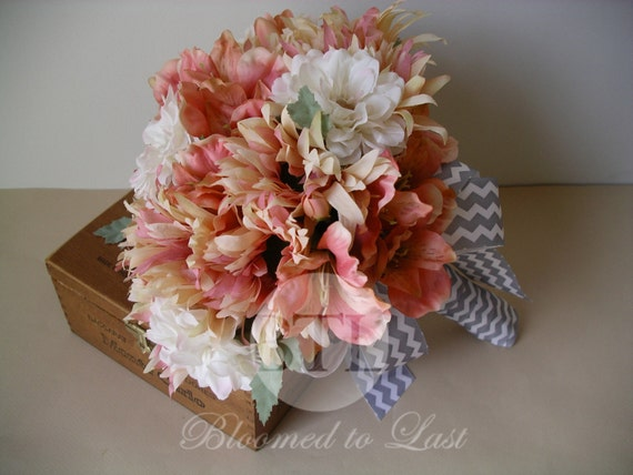 Chevron Wedding Bouquet