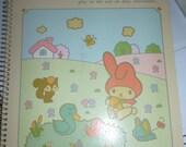 Vintage Sanrio 1976 1980s My Melody notebook kawaii showa era Japan Hello Kitty
