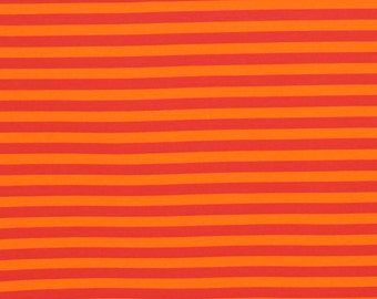 1 yard knit oprange stripes 4 way stretch