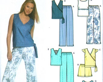 Simplicity 5067 Misses Easy Pull On Pants Shorts Pullover Tops Pattern In K  Summer Womens Sewing Pattern Size 6 - 12 Bust  30 - 34 Uncut