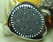 CLEARANCE Pillbox Polymer Zebra Mosaic 3 compartments