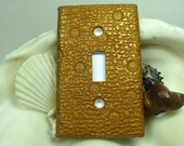 Golden Bronzed Suns  Polymer Clay Light Switch Plate Cover