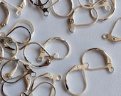 925 sterling silver plated over Copper Lever Back Earring Wire with French Ring - Nickel Free - 80 Pc -F9018
