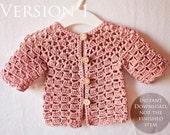 Crochet PATTERN - Lace Cardigan (one pattern - two cardigans)