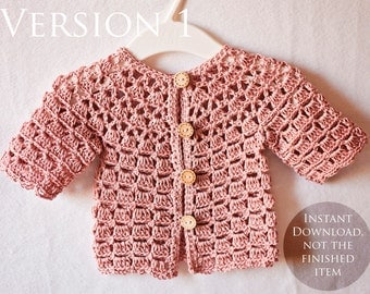 Crochet PATTERN - Lace Cardigan (one pattern - two cardigans)