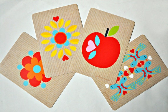 cards by Jolijou on Etsy