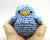 Crochet  Toy Pattern - Fat Birdy