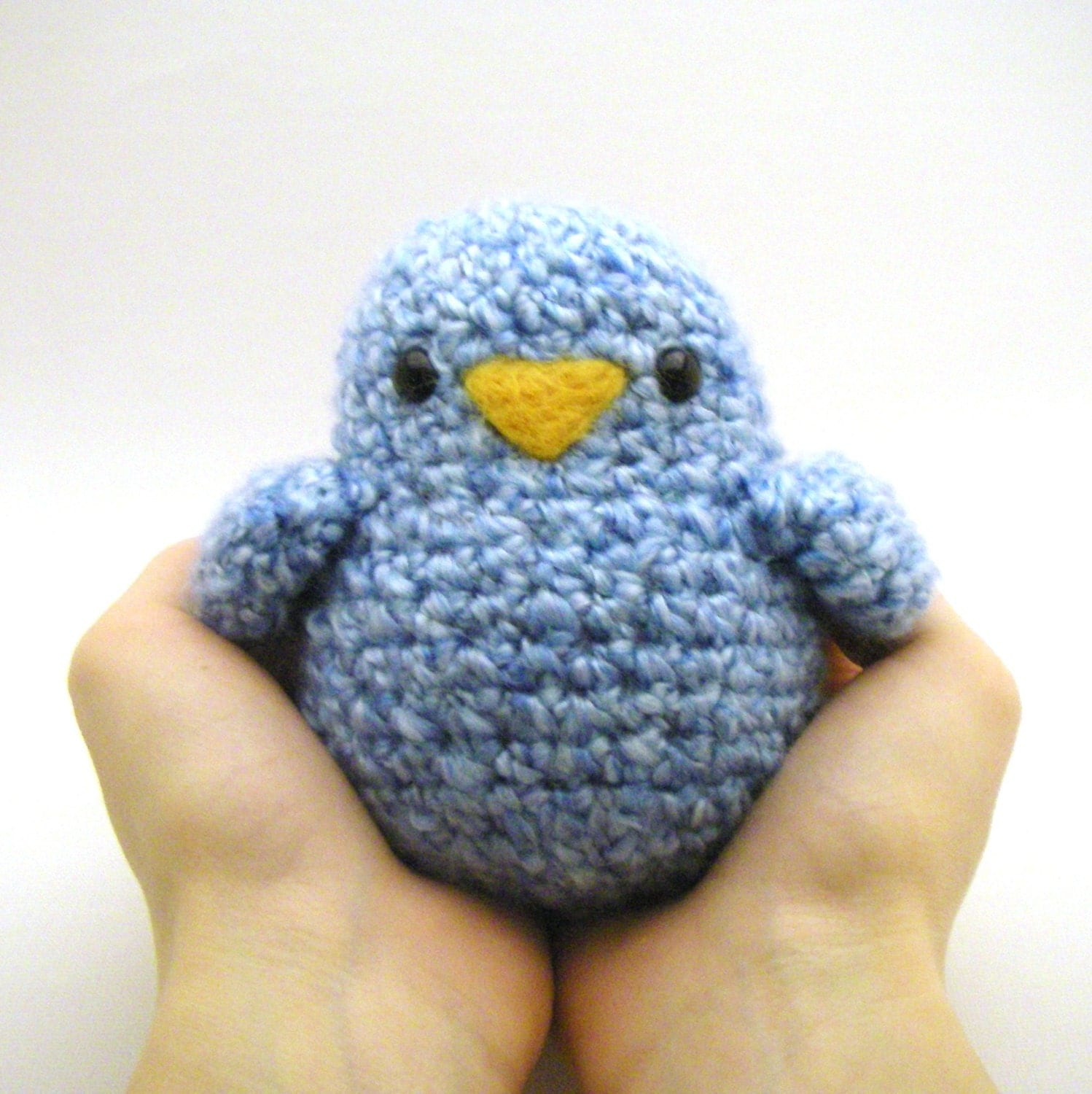 Crochet Toy Pattern Fat Birdy by Mamachee on Etsy