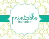 Printable Invitation File - choose any party theme already available