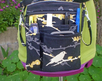 Fabric in Stock Deluxe Custom Hipster, Utility Belt With Pockets, Zipper and Swivel Hook in Dewberry Fabric