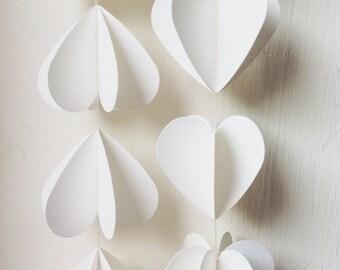 3D Paper Hearts Mobile, Paper Mobile, Bridal Shower Decor, Wedding Decor, 3D Mobile, Party Decoration,Wedding Bunting , Choose Your Colour