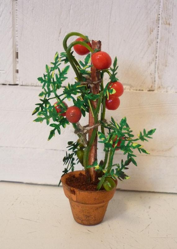 Potted Tomato Plant Dollhouse Mini
