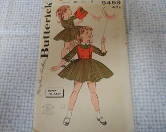 Vintage McCalls 2967 Girls Aline Dress & Pinafore or Jumper  Size 4