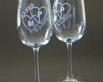custom etched wine glasses set of 4 engraved wine glasses weddings