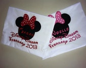 Disney Cruise Personalized Signature/Autographed Pillow Case in the Middle