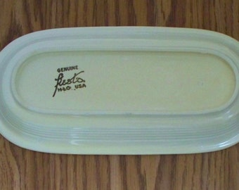 Vintage Fiestaware utility tray. GENUINE stamp on the old ivory piece. *FREE SHIPPING.