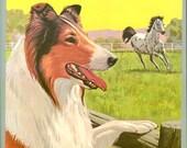Vintage Lassie Fun Book Coloring Book Mint Unused New Old Stock