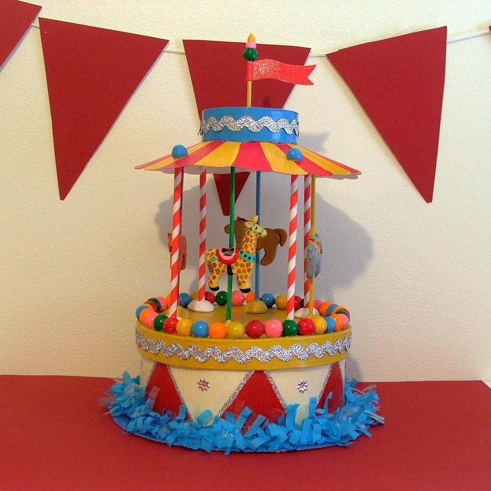 Sale Carousel Merry Go Round Birthday Centerpiece Gift