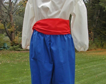 Boys' Costume Set - Shirt, Sash, Britches