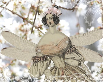 cherry blossom fairy - a whimsical springtime paper doll muse