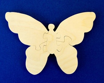 Butterfly Party Favors - Package of 10 Wood Toy Puzzles - Great for a Toddler or Childrens Birthday Party