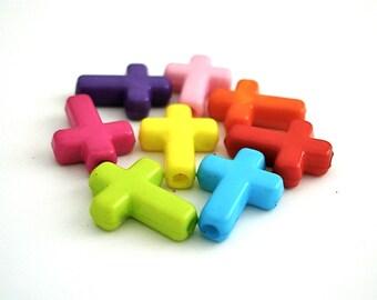 Cross Charms Pendants Acrylic 40