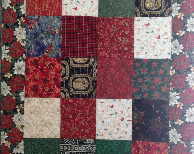 Ancestral Christmas 42 x 55 inch art quilt wallhanging
