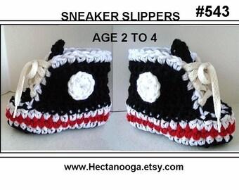 Baby Booties - crochet pattern, booties slippers, num. 543, SNEAKER BOOTIES
