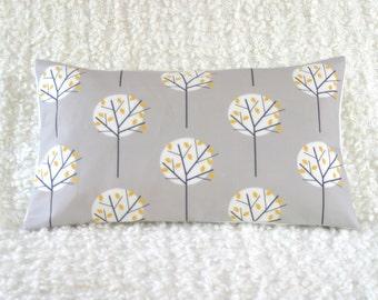 Stone Grey Cushion Cover Moonlight tree print throw pillow sham