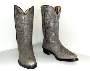 Vintage Grey Durango Cowboy Boots size 10.5 D or Cowgirl size 12