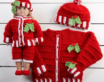 Dolly and Me Christmas Outfits Crochet Pattern PDF