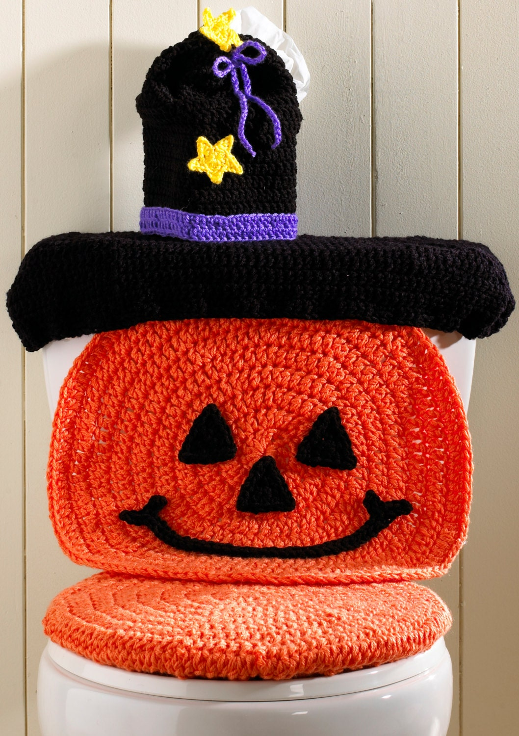 Pumpkin Toilet Cover Crochet Pattern Pdf