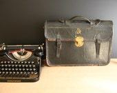 Antique Leather Satchel / Sale / British Navy / Great Britain / Royal Navy / Vintage Briefcase