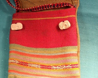 HANDMADE ANTIQUE COTTON pouch from Egypt.