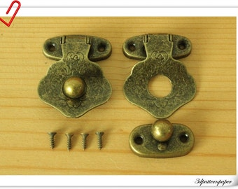 two sets of 43mm x 32mm  Anti brass metal latches for Box  lock P45