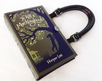 To Kill A Mockingbird Recycled Book Purse - Leather bound Book Purse - Banned Book Purse