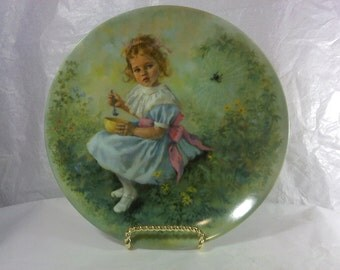 FREE SHIPPING plate Little Miss Muffet afraid of spiders (Vault 1)