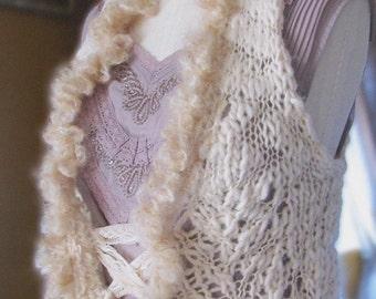Knitted Vest - Creme Fraiche