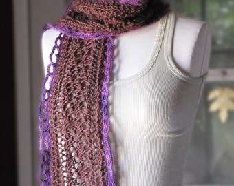 Lace Scarf - Chocolate Covered Plum
