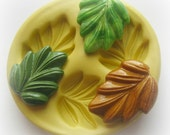 Leaf Leaves Fall Autumn Mold Deco Sweets Kawaii Food Silicone Flexible Clay Resin Mould